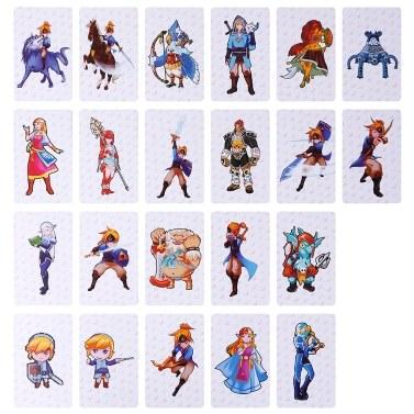 22PCS PVC NFC Tag Game Cartes La légende de Zelda: Souffle de la nature pour Switch Style 1