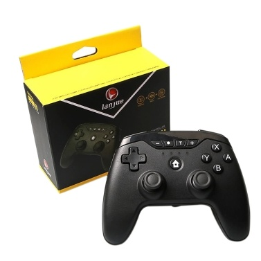 Multifunctional Switch Wirelessly Controller BT Connected Gamepad Supported Gyroscope A-xis Function/ Dual V-ibration for Computer Laptop E-sports Trip Travel Portable