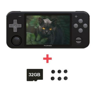 Powkiddy RGB10 Retro-Spielekonsole Handheld-Game-Player mit 32 GB TF-Karte