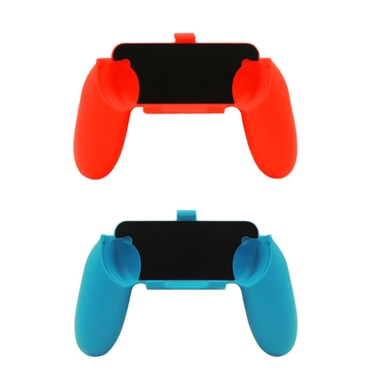 2Pcs New Nintendo Switch Joy-Con N-Switch Console Holder Grip Handle Kit Ergonomic Design Comfort Game Controller Blue Red