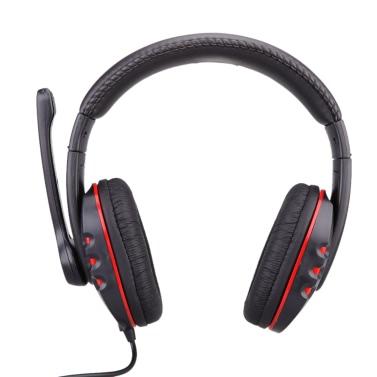 Kopfhörer-Kopfhörer mit Mikrofon und Lautstärkeregler Spiel für PS4-PS3-XBOX360-MAC-PC