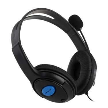 Bilaterale Gaming-Kopfhörer-Kopfhörer mit Mikrofon für PS4 PlayStation 4 PC verkabelt