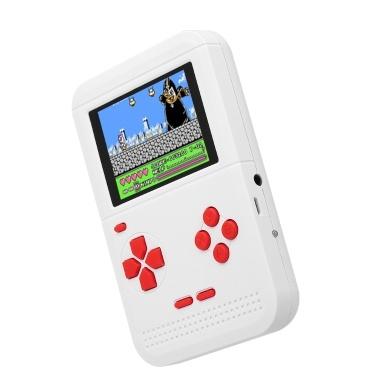 Q1 Handheld-Spielkonsole Gaming-Maschine Dual-Akku-Versorgung Eingebaute 300 klassische Spiele AV Out mit 2,6 Zoll Display