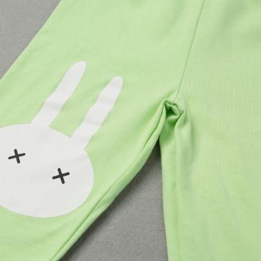 Girls Kids Leggings Print Elastic Waist Candy Color Cute Children Pants Trousers