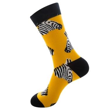 Ein Paar einzigartige bunte Tier-Serie bequeme Baumwoll lange Socken warme und atmungsaktive Socke