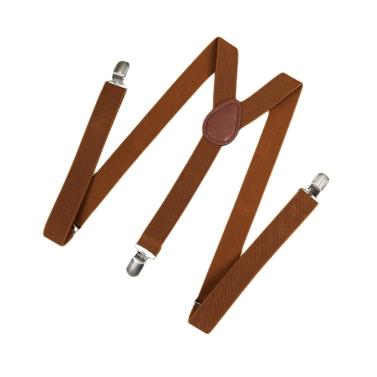 Fashion Clip on Suspenders Elastic Y-Shape Back Formal Unisex Adjustable Braces