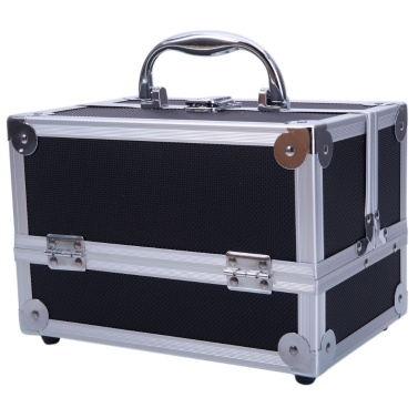 "9 ""x6"" x6 ""SM-2176 Aluminium Makeup Train Case Cosmetic Organizer mit Spiegel"