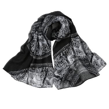 Frauen-Winter-lange Schal-Schal Traditionelle Totem-Druck Weinlese-weiche warme Schal Herbst Schals Pashmina