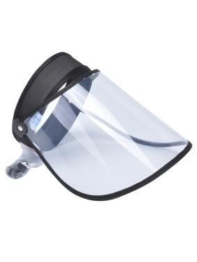 透明な保護ハットバイザーキャップフリップアップ回転式調整可能な防塵防滴保護フェイスシールドフルカバー