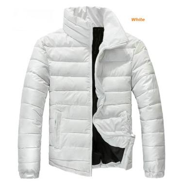 Mens Winter Coats Warm Parkas Stand-up Collar Jackets