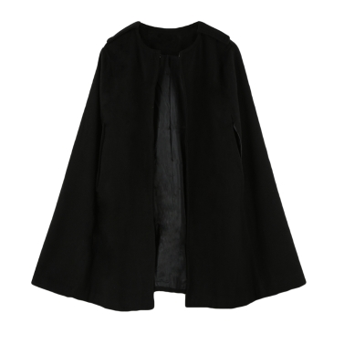 Neue Frauen-Cape Mantel Batwing Mantel lose Poncho warme Jacke Oberbekleidung Camel/schwarz