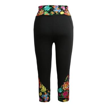 Mode Leggings Druckmuster hohe Taille Fitness Sport Hose Stretch zugeschnittenen Yogahose Women