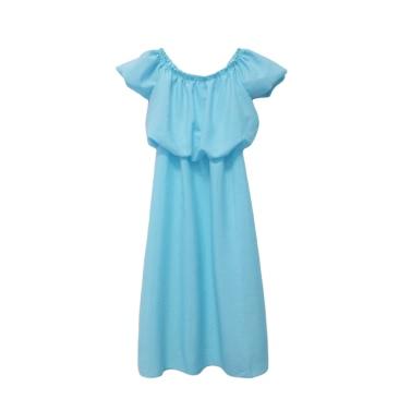 Mädchen Chiffon-Kleid Familie Identische Kleidung Mutter-Tochter-Kleid Mama und ich Kleidung Eltern Kinder Langes Kleid