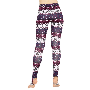 Women Leggings Christmas Print Skinny Trousers Casual Tights Stretch Slim High Waist Stirrup Leggings Fitness Pants