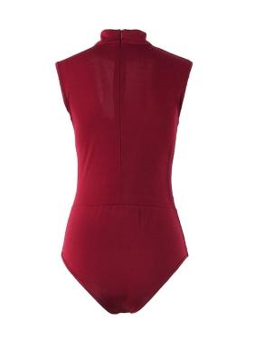Neue Frauen Sexy Bodysuit Ausschnitt Choker Ärmellose Strumpfhose Bodycon Overall Spielanzug Beachwear
