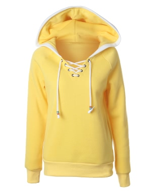 Women Hoodie Hooded Sweatershirt Fleece Raglan Long Sleeves