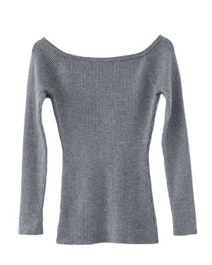 Herbst Winter Basic Frauen Pullover Slash Neck Solid gestrickt schlank Pullover Thin Long Ärmel Pullover Top
