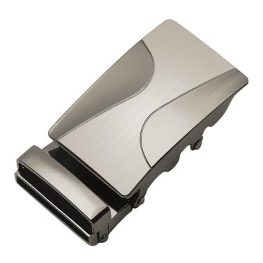 Art und Weise modernes Entwurfs-Leder-Bügel-Gurt-Geschäfts-beiläufige Zink-Legierungs-automatische Metall zwei Semiarc hohe Kasten-Wölbungs-Mann-Hose-Freizeit-Bund für Mann-Gurt