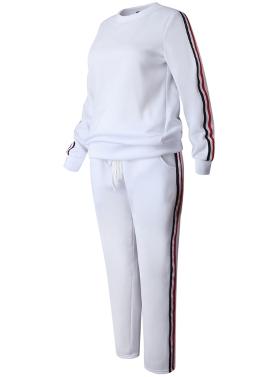 Women Sportswear Suit Casual Tracksuit Costumes 2 Piece Set Plus Size Autumn Winter Sweatshirt Clothing