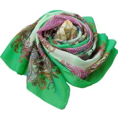 New Fashion Women Bohemian Chiffon Scarf Floral Print Long Shawl Beach  Pashmina Elegant Thin Scarf
