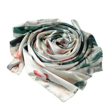 Weinlese-Frauen-Silk Schal chinesischen Tinte und Wäsche-Druck-langes Schal-Schal Pashmina