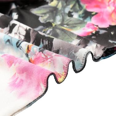 Vintage Women Silk Scarf Chinese Ink And Wash Print Long Scarves Shawl Pashmina