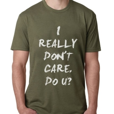 Casual Simple I Really Do Care T-Shirt Short Sleeve Soft Tops for Summer