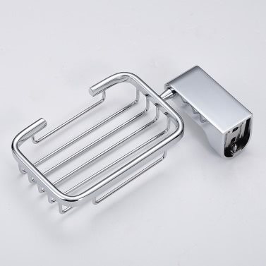 Homgeek High-quality Wall Mounted Chromed Stainless Steel Soap Basket Holder Container Dish Bathroom Toilet Accessory for Home Hotel