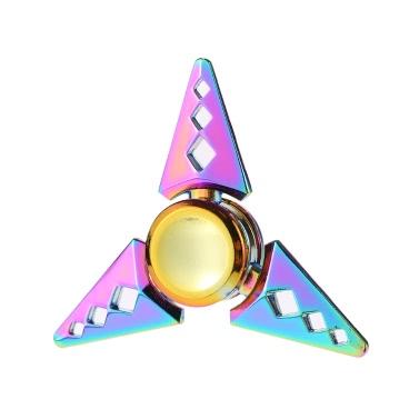 Fidget Toys Anti-Angst 360 ° Tri Dreieck Fokussierung EDC Spielzeug Focus Spinner für Kinder Erwachsene Stress Reducer entlastet ADHD Angst Desk Portable New Style Rainbow Farbe