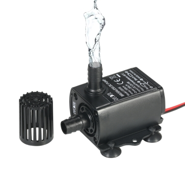 Decdeal DC12V 5W Ultra-quiet Mini Brushless Water Pump Waterproof Submersible Fountain Aquarium Circulating 280L/H Lift 300cm