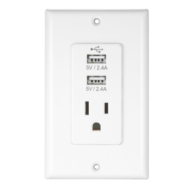 Wireless Home Plug Socket Adaptor Plug with USB Interface