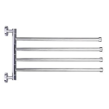 Platzsparende Wand-Edelstahl-Schwenkbar-Handtuchhalter Multifunktionale Badetuchhalter Badezimmer-Handtuchhalter Handtuchhalter