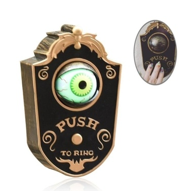 Animated Doorbell Eyeball Halloween Decorations Light-Up Talking Eyeball Doorbell Hallowmas Prop Spooky Toy