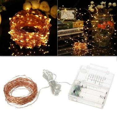Luzes de corda 39 pés 100 LED corda de luz