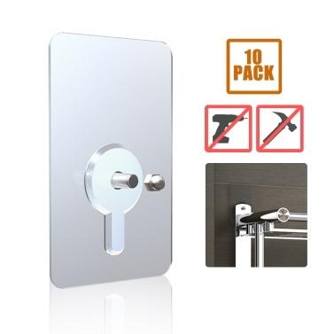 10pcs Badezimmer Klebstoff Schraube Wandhalterung kein Bohrhaken