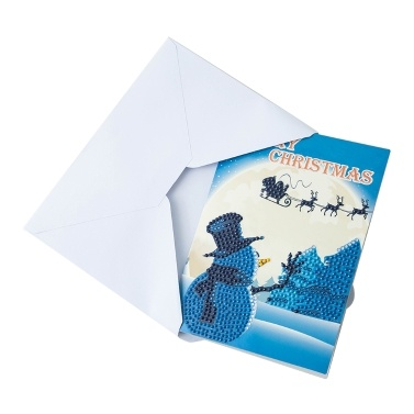 5d diamant malerei weihnachtskarten diamant stickerei geburtstag papier diy gruß postkarten cartoon handwerk kinder geschenk