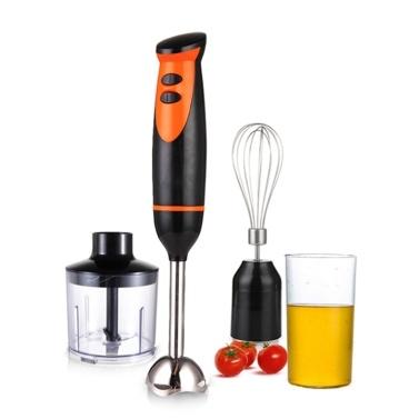 Stabmixer 4-in-1 Multifunktionaler Stabmixer Edelstahl-Stabmixer 500 ml Mischbecher 330 ml Küchenmaschine Schneebesenaufsatz Smoothies Saucen und Suppen