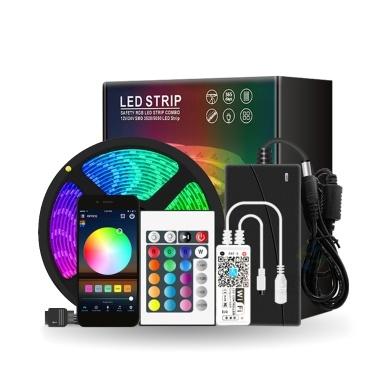 16,4ft 150LEDs Wi-Fi RGB LED-Lichtleisten mit IR-Fernbedienung