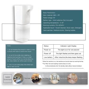 500 ml automatischer Schaumseifenspender mit doppeltem Verwendungszweck Flüssigspray Zerstäuber Nebel Handwaschmaschine Berührungsloser Infrarotsensor