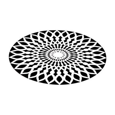 3D Space Round Carpet Optical Illusions Non Slip Area Rug Anti-Slip Floor Mat