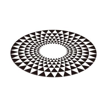3D Space Round Carpet Optical Illusions Non Slip Area Rug Anti-Slip Floor Mat 80*80cm