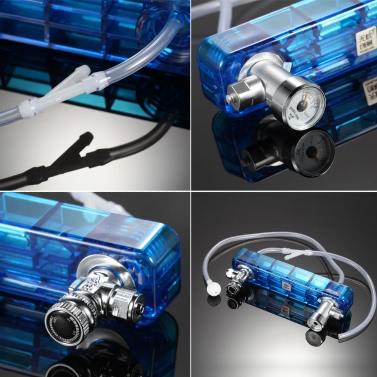 DIY CO2 Generator System Kit with Pressure Guage Safe Vavle Air Flow Adjuster Aquarium Accessory Fish Tank Plant Necessity