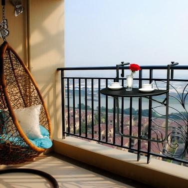 iKayaa verstellbare Klapptisch an der Balkon-Deck hängen Patio Geländer Esstisch Garten Patio Möbel testen Bericht für EN581
