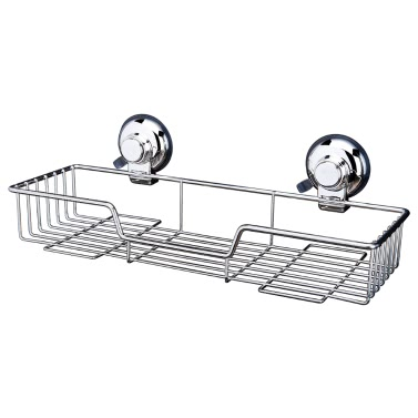 High-quality Wall-mounted Rust-resistant Stainless Steel Vacuum Suction Cup Bathroom Kitchen Shower Caddy Rack Shelf Holder Basket Organizer Shampoo Spice Towel Bathroom Accessories