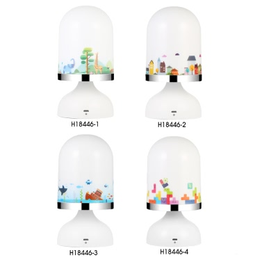Portable USB Rechargeable Vibration Sensor Baby Room Hanging LED Night Light Nursery Bedroom Lamp Yellow Light