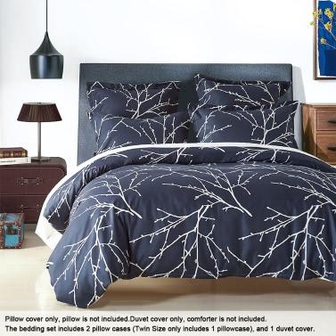 Cozy Bedding Set Well-made Polyester Reversible Duvet Cover Set Soft Duvet Cover & Pillowcase Sets