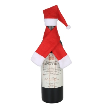 Weihnachtsweinflaschenabdeckung