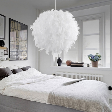 Feather Ball Lamp Droplight