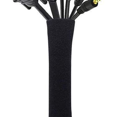 Câble Anti-cernes Gestion Manches Organisateur de Fils pour TV Ordinateur Réfrigérateur Néoprène Couvercle Du Cordon Câble Hider Protecteur Zipper Conception 50 cm