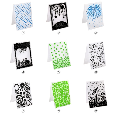 1PCS Decorative Frame Embossing Folder Plastic Template Textured Impressions for Scrapbooking Photo Card Craft Making Cake Decoration